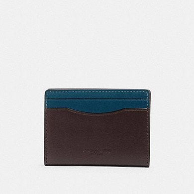 Coach Magnetic Card Case 91265 In Colorblock