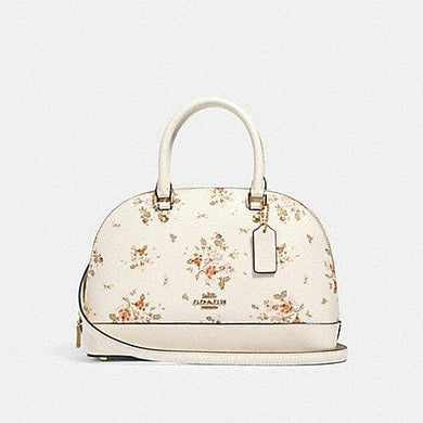 Coach Mini Sierra Satchel With Rose Bouquet Print 91430 In Chalk Multi