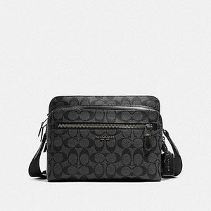 Coach Signature West Camera Crossbody Bag 91485 In Black Charcoal
