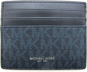 Michael Kors Cooper Tall Card Case 36U9LCRD1B In Admiral Blue
