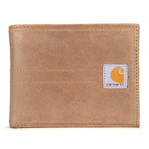 Carhatt Legacy Passcase Wallet In Tobacco Brown