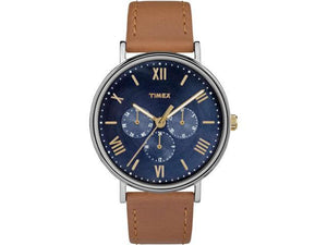 Timex Southview Multifunction TW2R29100 Brown Leather Strap Watch