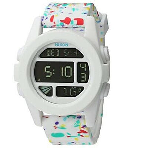 NIXON White Multi Speckle Digital Watch A1972313-00