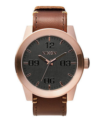 NIXON The Corporal Leather Strap Watch A2432001