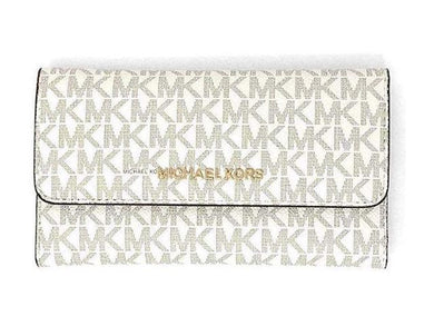 Michael Kors Jet Set Travel 35F8GTVF3B Large Trifold In Vanilla