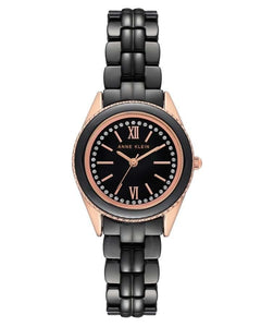 Anne Klein Black Dial Ladies Watch AK-3410BKRG