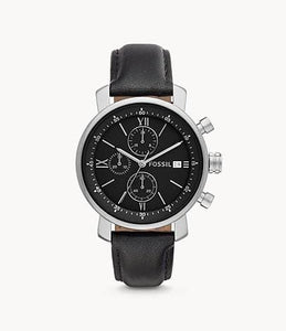 Fossil Men's Rhett Chronograph BQ1006 Black Leather Watch