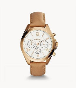 Fossil Modern Courier Chronograph BQ1751 Tan Leather Strap Watch