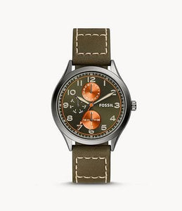 Fossil Wylie Multifunction BQ2515 Green Leather Watch