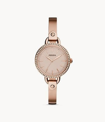 Fossil Classic Minute Three-Hand BQ3163 In Rose-Gold-Tone Watch