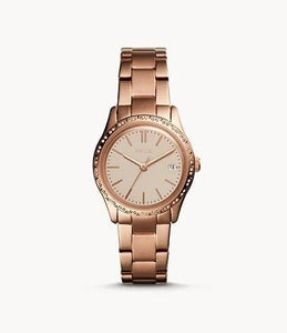 Fossil Adalyn Three-Hand BQ3374 Rose-Gold-Tone Stainless Steel Watch