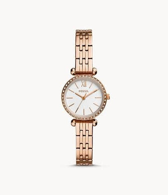 Fossil Mini Tillie Three BQ3502 Hand Rose Gold Tone Watch