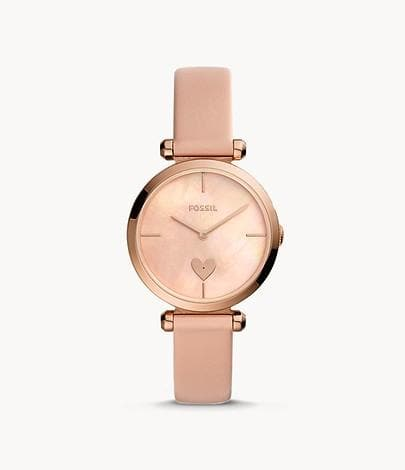 Fossil Tillie Three-Hand Blush Leather Watch BQ3573