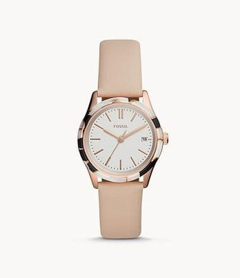 Fossil Adalyn Three-Hand Date BQ3586 Blush Leather Watch