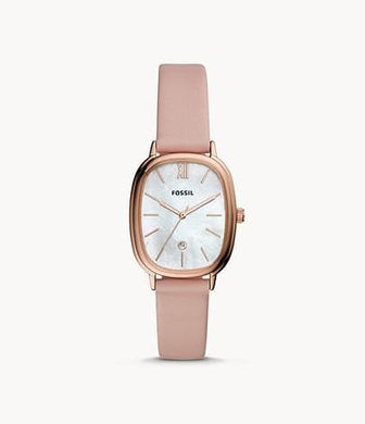 Fossil Lyla Three-Hand BQ3606 Date Blush Leather Watch