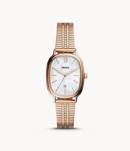 Fossil Lyla Three-Hand Date BQ3609 Rose Gold-Tone Stainless Steel Watch