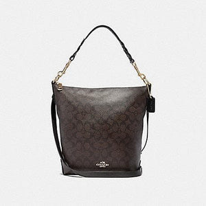 COACH ABBY DUFFLE IN SIGNATURE CANVAS F31477 (BROWN/BLACK/LIGHT GOLD)