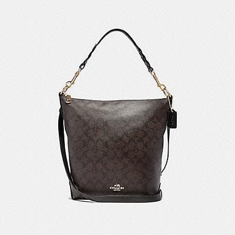 Coach Signature Abby Duffle Shoulder Bag F31477 In Brown Black