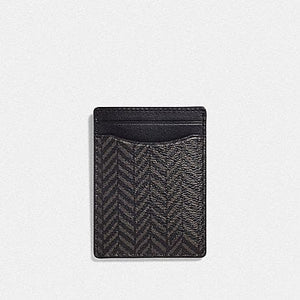 COACH BOXED 3-IN-1 CARD CASE GIFT SET WITH HERRINGBONE PRINT F73112 (BLACK/MULTI)