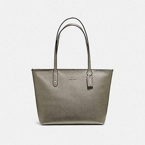 COACH CITY ZIP TOTE F58846 (MILITARY GREEN/GOLD)