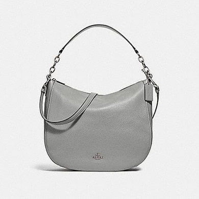 COACH HANDBAG ELLE HOBO F31399 (HEATHER GREY/SILVER)