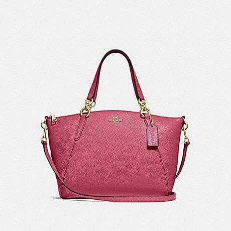 COACH HANDBAG PEBBLE LEATHER SMALL KELSEY SATCHEL F28993 (ROUGE/GOLD)