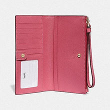Load image into Gallery viewer, COACH LONG WALLET F73156 (PINK RUBY/GOLD)