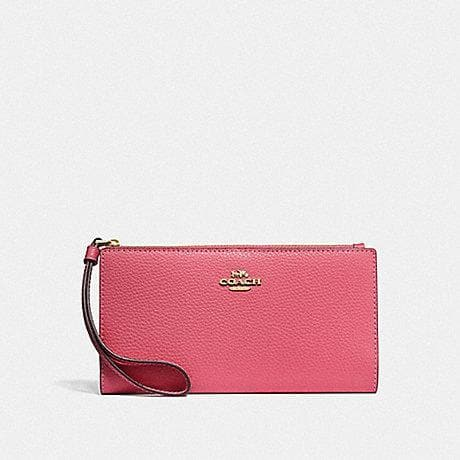 COACH LONG WALLET F73156 (PINK RUBY/GOLD)