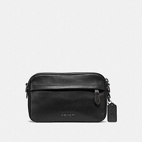 COACH MEN GRAHAM CROSSBODY F39946 (BLACK/BLACK ANTIQUE NICKEL)