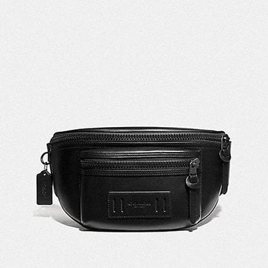 Coach Terrain Belt Bag F75776 In Black Leather