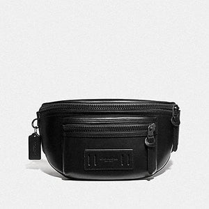 COACH TERRAIN BELT BAG F75776 (BLACK/BLACK ANTIQUE NICKEL)