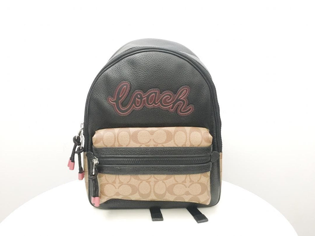 COACH VALE MEDIUM CHARLIE BACKPACK F76747 (TAN/BLACK)