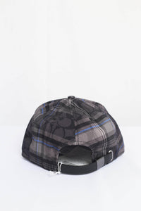 Coach Signature With Plaid Print F78492 PC1 Flat Brim Hat