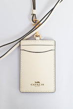 Load image into Gallery viewer, Coach ID Lanyard Crossgrain Leather F57311 In Chalk