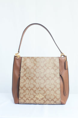 Coach Signature Canvas F79993 IME74 Marlon Hobo Shoulder Bag