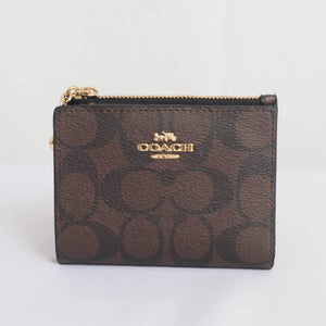 Coach Signature Canvas F78002 IMAA8 Snap Card Case