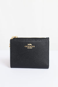 Coach Leather F73867 IMBLK Snap Card Case