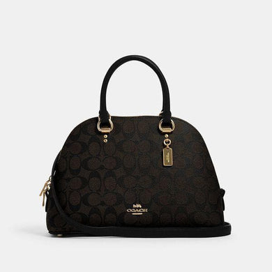 Coach Signature Katy 2558 Satchel Bag In Brown Black