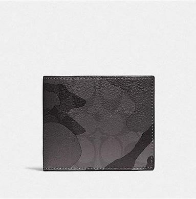 Coach 3-In-1 Wallet in Signature Canvas with Camo Print F88270 (Qb/Grey Multi)