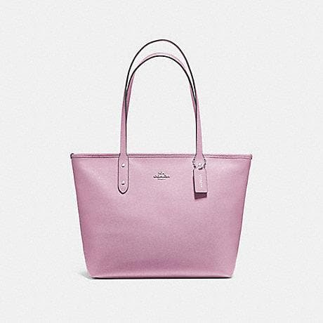 Coach City Zip Tote F58846 (Lilac/Silver)