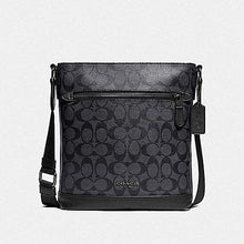 Load image into Gallery viewer, Coach Graham Flat Crossbody in Signature Canvas F79053 (Charcoal/Black/Black Antique Nickel)