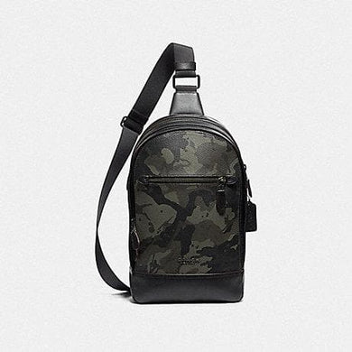 Coach Graham Pack with Camo Print F76846 (Green/Black Antique Nickel)
