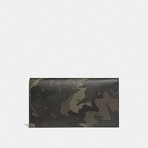Coach Large Universal Phone Case with Camo Print F78684 (Green/Black Antique Nickel)