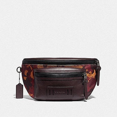 Coach Terrain Belt Bag with Camo Print F76785 (Rust/Black Antique Nickel)