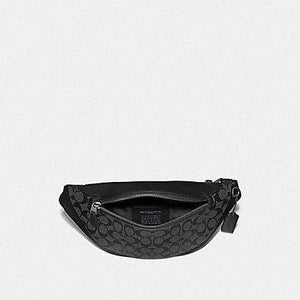 Coach Warren Belt Bag in Signature Canvas F78777 (Charcoal/Black/Black Antique Nickel)