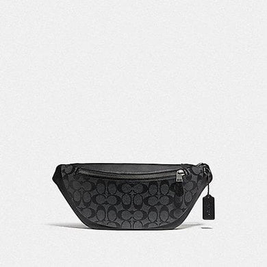 Coach Warren Belt Bag in Signature Canvas F78777 In Charcoal