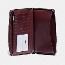 Load image into Gallery viewer, Coach Boxed Large Phone Wallet In Signature Leather F80222 (Wine/Silver)