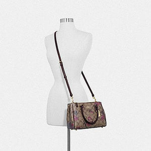 Coach Mini Surrey Carryall In Signature Canvas With Victorian Floral Print F88563 (Khaki Berry Multi/IM)