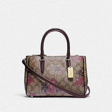 Load image into Gallery viewer, Coach Mini Surrey Carryall In Signature Canvas With Victorian Floral Print F88563 (Khaki Berry Multi/IM)
