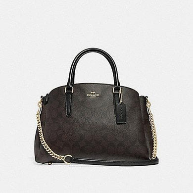 Coach Sage Carryall In Signature Canvas F29683 (Brown/Black/Imitation Gold)